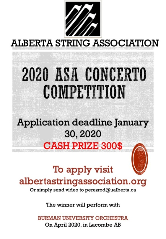 2020 ASA CONCERTO COMPETITION POSTER